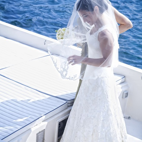 bride's with the boat