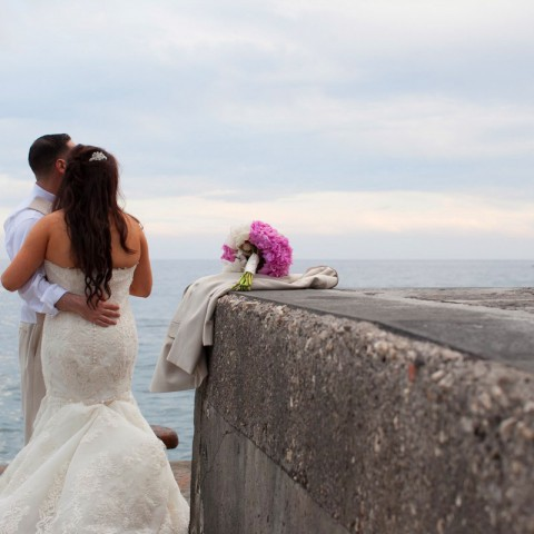 sea side wedding Positano