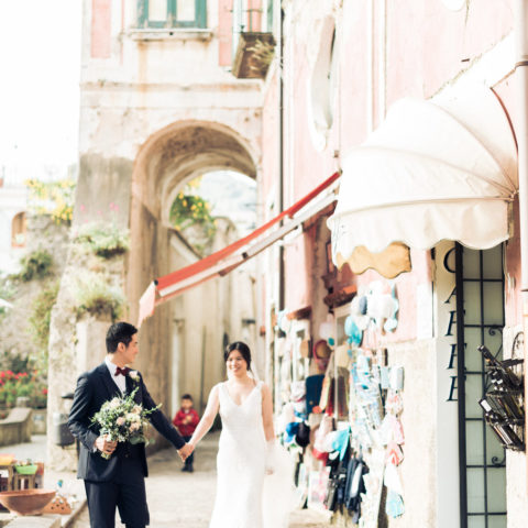 Amalfi coast wedding in Ravello